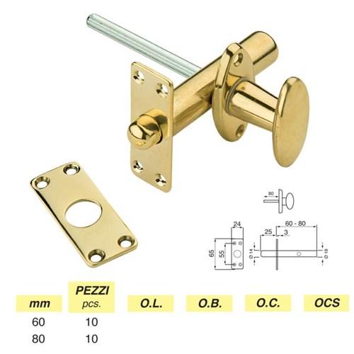 Art. 221 - Rack bolt mm. 60 - 80