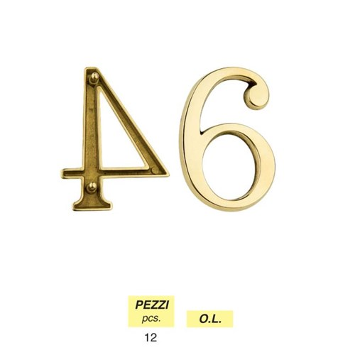 Art. 302 - Numbers mm 80 with pins